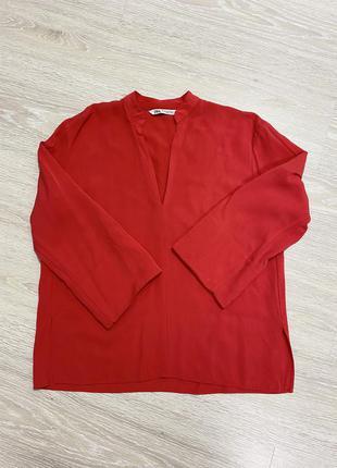 Блузка zara красная