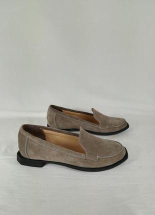 Женская обувь мокасины туфли замшевые
