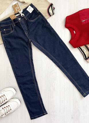 Синие подростковые джинсы straight fit для мальчика ovs kids италия