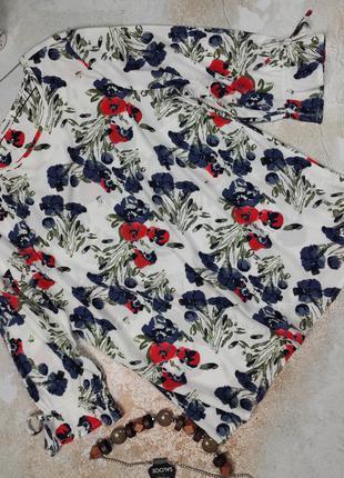Блуза красивая стильная в цветочный принт uk 16/44/xl
