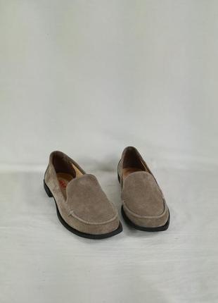 Обувь женская туфли  мокасины заммша