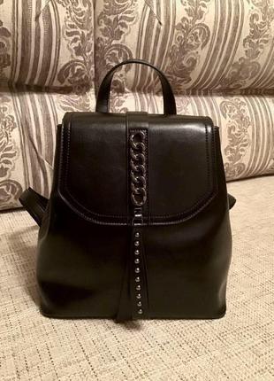 Рюкзак из натуральной кожи, новый с бирками