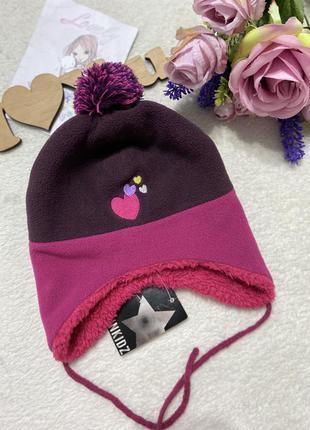 Шапка флисовая, зимняя осенняя шапочка