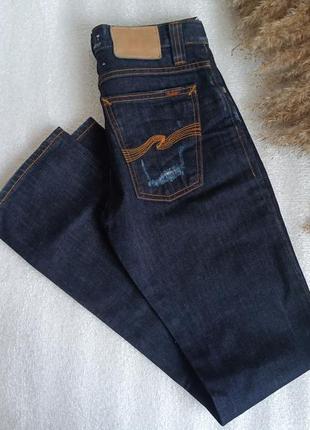 Стильні та зручні темні джинси сліми, slim слим