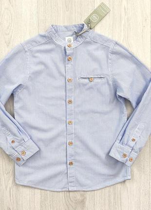 Белая в голубую полоску рубашка для мальчика cool club польша