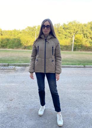 Женская утепленная демисезонная осенняя куртка от производителя. скидка. распродажа!