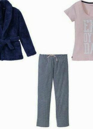 Тёплый домашний костюм тройка, женская пижама m 40 42 euro esmara германия