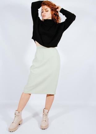 Демисезонная юбка классическая, элегантная юбка карандаш, юбка миди, спідниця