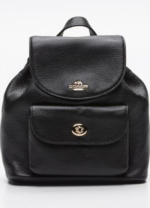 Новый рюкзак coach 100% кожа оригинал сумка коуч кожаный рюкзак чёрный коач
