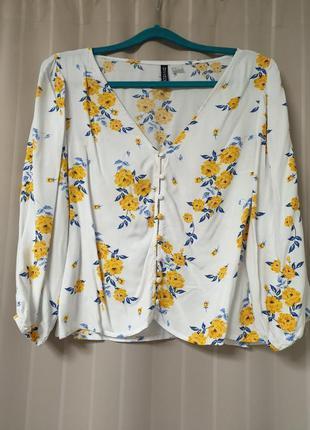 Блуза в цветочек от h&m