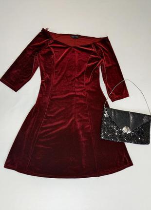Роскошное вечернее бархатное платье  трапеция dorothy parker eur 38