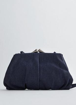 Крута сумка zara джинсова нова великий клатч