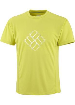 Мужская трекинговая футболка  columbia omni - freeze ice размер m