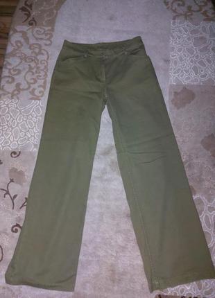 Джинсы брюки  широкие wide leg клеш от бедра