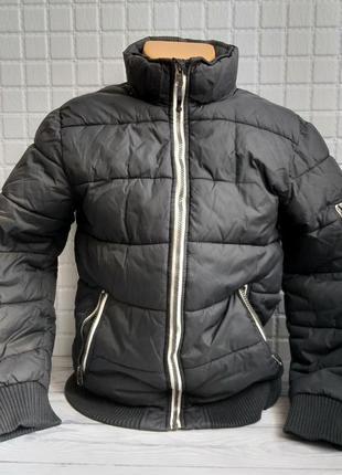 Куртка демисезонная теплая на мальчика подростка 152-164