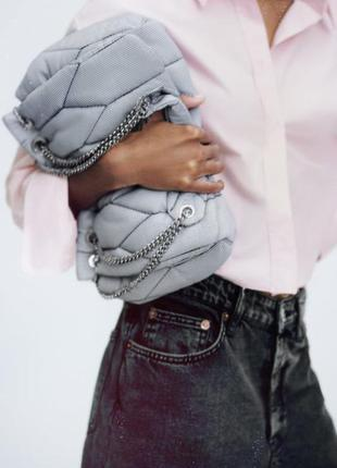 Zara стеганая сумка с плечевым ремнем