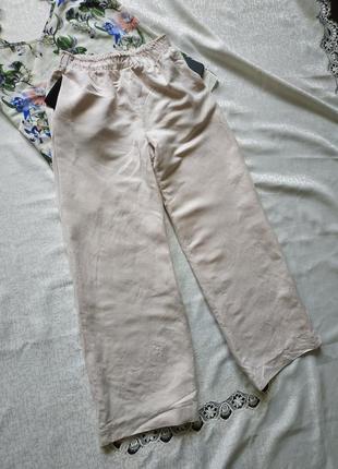 Котоновые штаны-палаццо свободного кроя