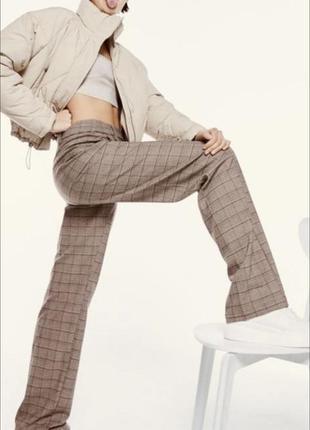 Повседневные брюки шерстяные брюки в клетку