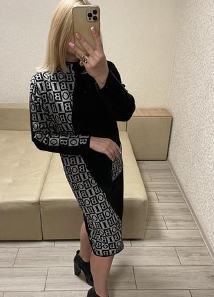 Женское вязаное платье) италия