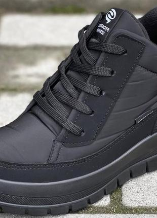 Женские зимние ботинки черные на шнурках (пр-4501)