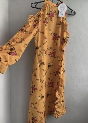 Шифонове плаття в квітковий принт