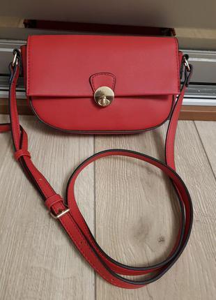 Красная сумка кроссбоди, брендовая сумка accessoriz через плечо, на плечо