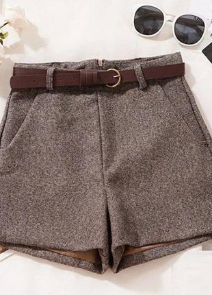Твидовые шорты | теплые шорты осень