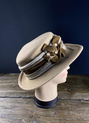 Шляпка фетровая favorite modell, качественная
