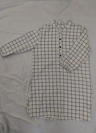 Платье мини с геометрическим принтом, рукава на резинке