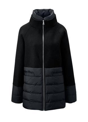 Батал !!! теплое женское демисезонное пальто куртка с шерстью tcm tchibo размер 62