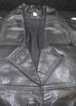 Пиджак кожаный.