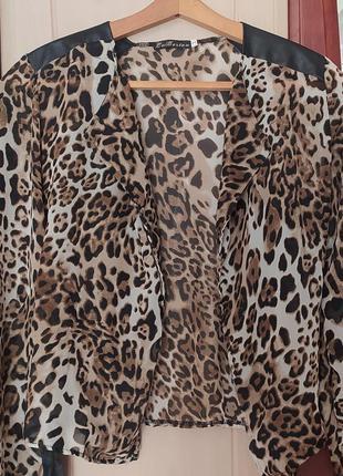 Леопардовая накидка