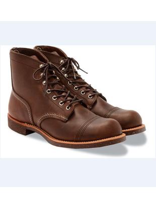 Натур. кожаные дорогие red wing shoes ботинки на шнуровке