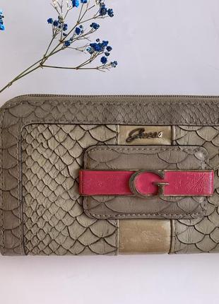 Женский кошелёк guess гес гесс портмоне гаманець жіночий зміїна шкіра змеиная кожа
