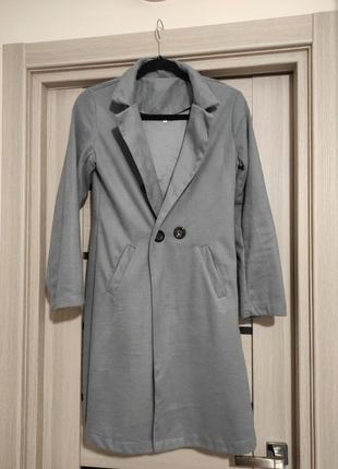 Кардиган тонкое пальто с карманами