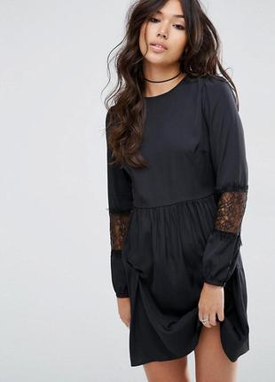 Платье мини с длинными рукавами asos