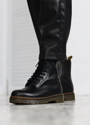 Ботинки dr. martens 1460 black без меха