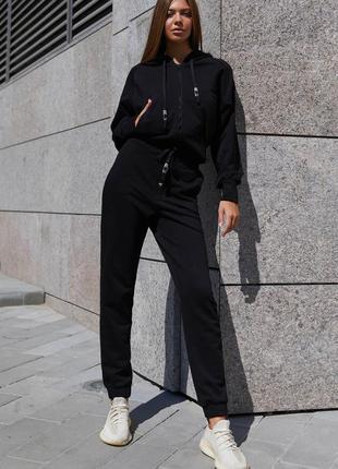 Прогулочный костюм лонг черный jadone fashion
