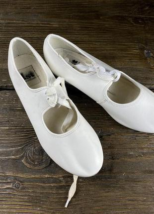 Туфли для степа 1st position, белые, кожзам