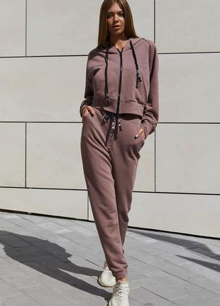 Прогулочный костюм лонг мокко jadone fashion