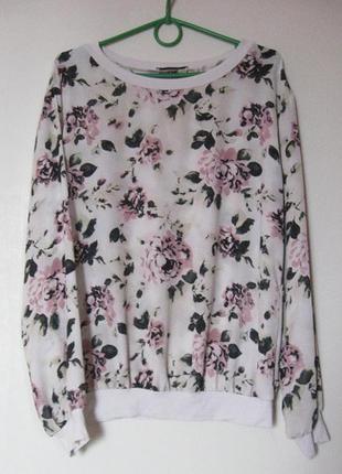 Лонгслив свитерок блуза в розах