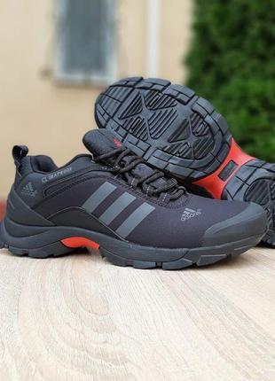 Мужские черные термо кроссовки на евро зиму adidas climaproof🆕водоотталкивающие адидас
