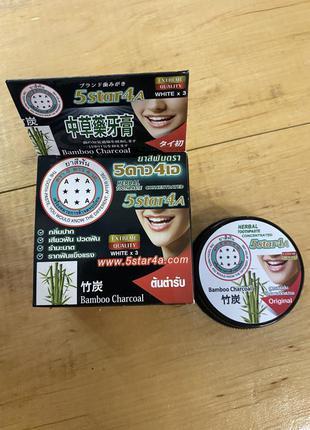 Отбеливающая зубная паста с бамбуком 5 star на травах 25 гр