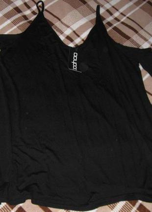 Трикотажная блуза с открытыми плечами 18