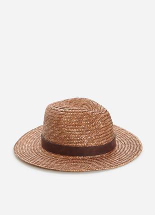 Плетеная панама шляпа соломенная шляпка reserved