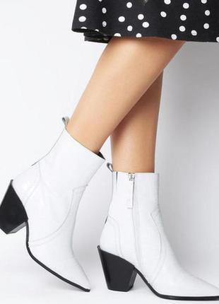 Натуральные кожаные казаки ковбойки ботинки office london