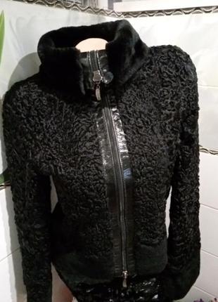 Куртка із каракуля з мутоном