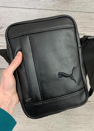 Мужская сумка через плечо puma пума барсетка мужская кожаная сумка для документов планшет черная