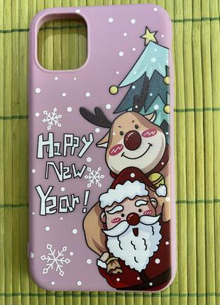Новогодний чехол на iphone 11