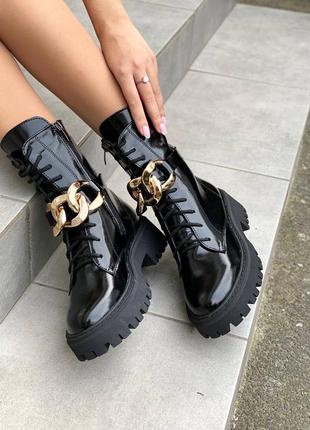 Женские кожаные ботинки демисезонные